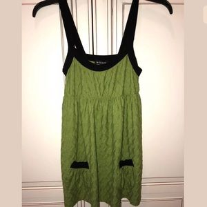 WOMEN'S GREEN & BLACK TUNIC BY LE CHATEAU SIZE S
